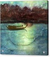 Perfume River By Moonlight Acrylic Print