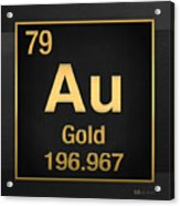 Periodic table of elements gold au gold on black canvas print periodic table of elements gold au gold on black acrylic print urtaz Gallery