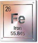 Periodic Table Of Elements - Iron Fe Acrylic Print