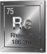 Periodic Table Of Elements - Rhenium Acrylic Print