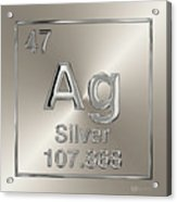 Periodic Table Of Elements - Silver - Ag Acrylic Print