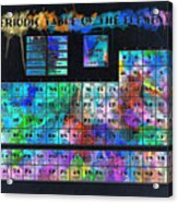 Periodic Table Of The Elements Acrylic Print