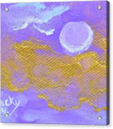 Periwinkle Moon Acrylic Print