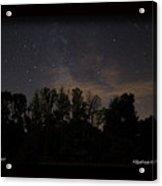 Perseid Meteor In Milky Way Acrylic Print