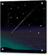 Perseid Meteor Shower  Acrylic Print by Jean Pacheco Ravinski