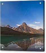 Perseid Meteors Over Mt. Chephren Acrylic Print