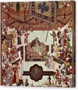 Persian Miniature, 1567 Acrylic Print