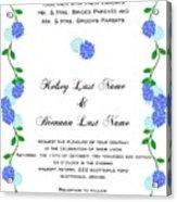 Personalized Wedding Invitations Acrylic Print