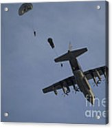 Personnel Jump From A C-130 Hercules Acrylic Print