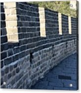 Perspective At The Great Wall Acrylic Print