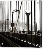 Perspective On The Golden Gate Bridge Acrylic Print