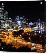 Perth By Night Acrylic Print