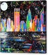 Perth Skyline Alla Pollock  Acrylic Print