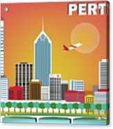 Perth Western Australia Australia Horizontal Skyline Acrylic Print