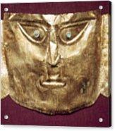 Peru: Chimu Gold Mask Acrylic Print