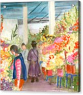 Peruvian Flower Market Acrylic Print