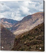 Peruvian Mountains From Pisac Site Acrylic Print