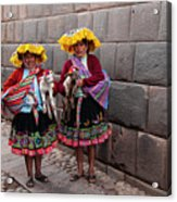 Peruvian Native Costumes  Acrylic Print
