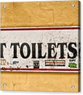 Pet Toilets Acrylic Print