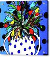 Petals And Dots Acrylic Print