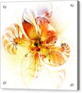 Petals Of Gold Acrylic Print
