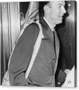 Pete Seeger B. 1919 Arrives At Federal Acrylic Print