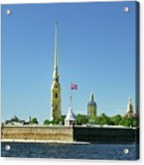 Peter And Paul Fortress. Saint Petersburg, Russia Acrylic Print