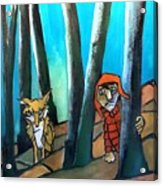 Peter And The Wolf Acrylic Print