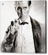 Peter Cushing As Sherlock Holmes Acrylic Print