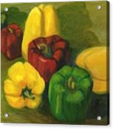Peter Pifer Has A Lot Of Peppers To Choose From Acrylic Print