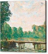 Petit Pont Sur L'orvanne Acrylic Print