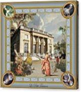 Petit Trianon Medallions Acrylic Print