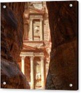 Petra Treasury Revealed Acrylic Print