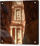 Petra Treasury Revealed Acrylic Print