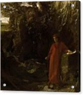 Petrarch By The Fountain Of Vaucluse Acrylic Print