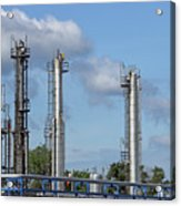 Petrochemical Plant Refinery Industry Zone Acrylic Print