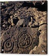 Petroglyphs In Kalahuipuas Historic Acrylic Print
