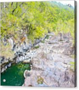 Petrohue River In Vicente Perez Rosales National Park Near Puerto Montt-chile Acrylic Print