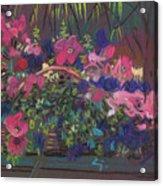 A Basket Of Petunias Acrylic Print