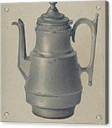 Pewter Teapot Acrylic Print
