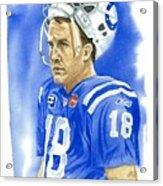 Peyton Manning - Heart Of The Champion Acrylic Print