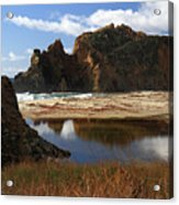 Pfeiffer Beach Landscape In Big Sur Acrylic Print