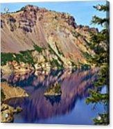 Phantom Ship In Crater Lake Acrylic Print