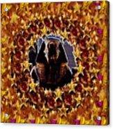 Pharaoh In The Starry Night Acrylic Print