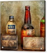 Pharmacist - On A Pharmacists Counter Acrylic Print by Mike Savad