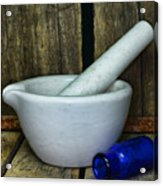 Pharmacy - Mortar And Pestle - Square Acrylic Print