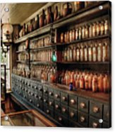 Pharmacy - So Many Drawers And Bottles Acrylic Print