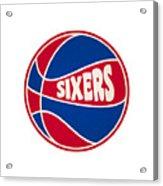 Philadelphia 76ers Retro Shirt Acrylic Print
