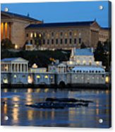 Philadelphia Art Museum And Fairmount Water Works Acrylic Print by Gary Whitton