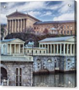 Philadelphia Art Museum At The Water Works  Acrylic Print